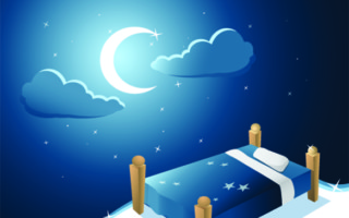 bedtime with crescent moon